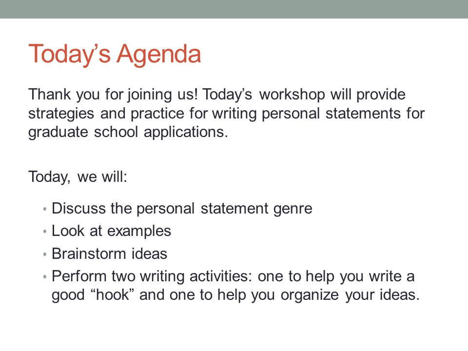 Writing Personal Statements - Ppt Download