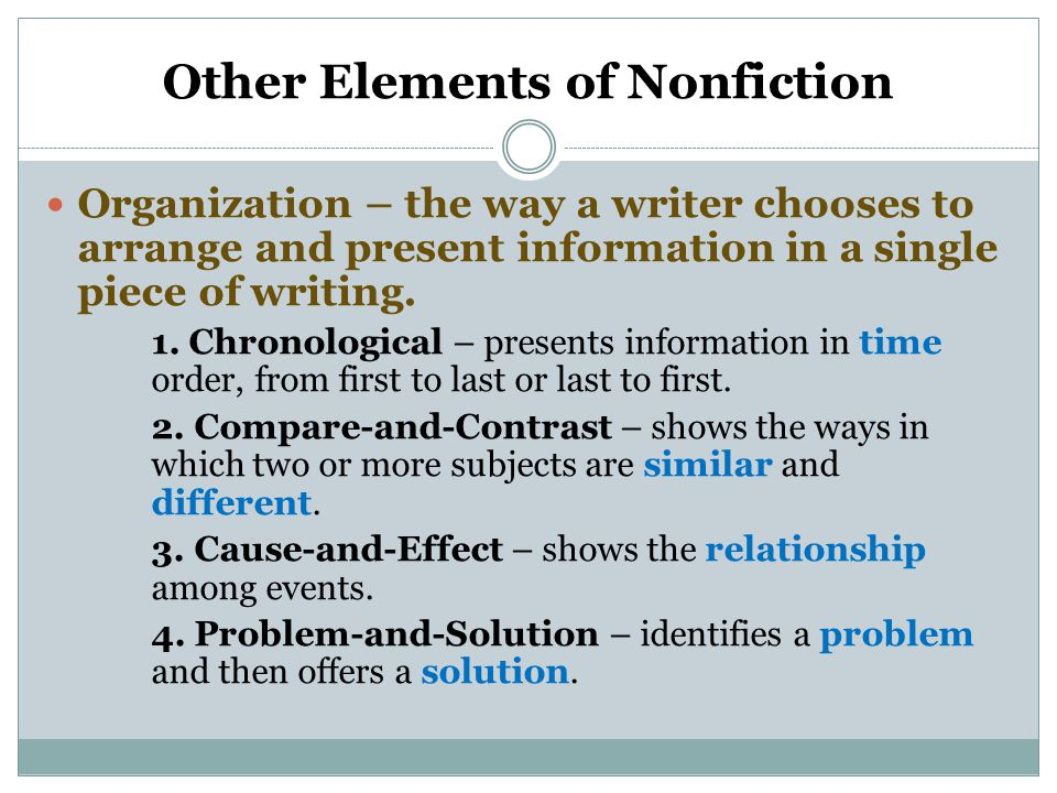 Other Elements of Nonfiction