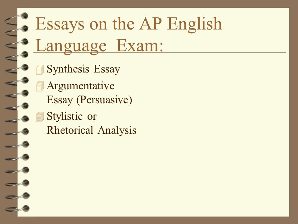 types of essays on ap english exam Ap english literature: exam format and question types the ap literature exam is a three-hour exam that contains two sections first is an hour-long, 55-question multiple choice section, and then a two hour, three question free-response section  the majority of your grade on the ap english lit exam comes from essays,.