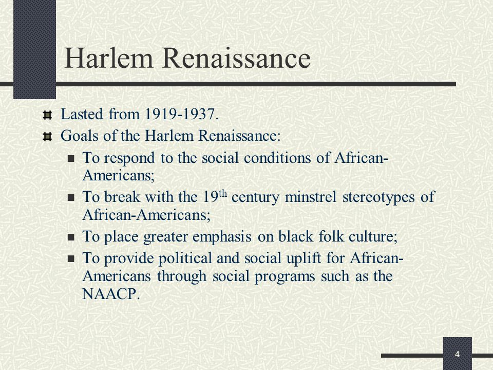 Harlem Renaissance Lasted from