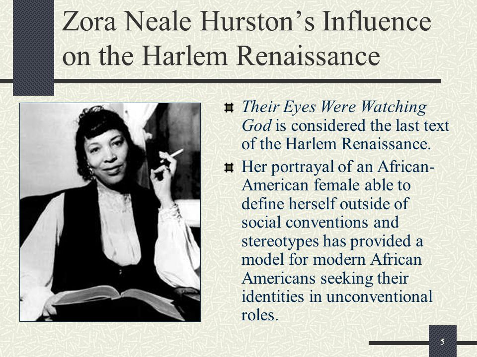 Zora Neale Hurston's Influence on the Harlem Renaissance