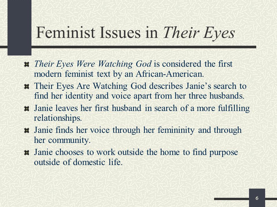 Feminist Issues in Their Eyes