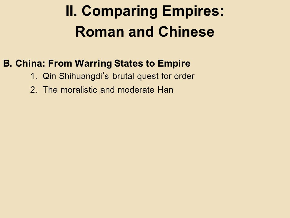 compare romanization and legalism Fǎ-jiā ( chinese : 法家  pinyin : fǎ jiā ) or legalism is one of the six classical schools of thought in chinese philosophy that developed during the warring states period.