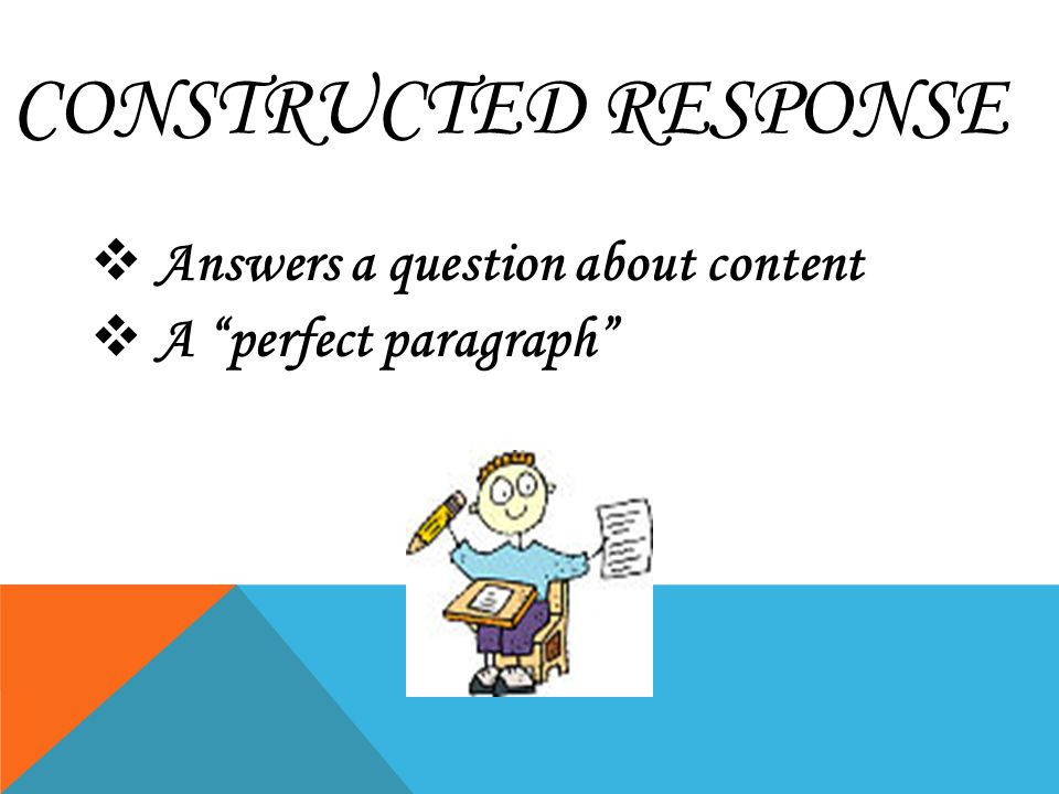 how to write paragraph response