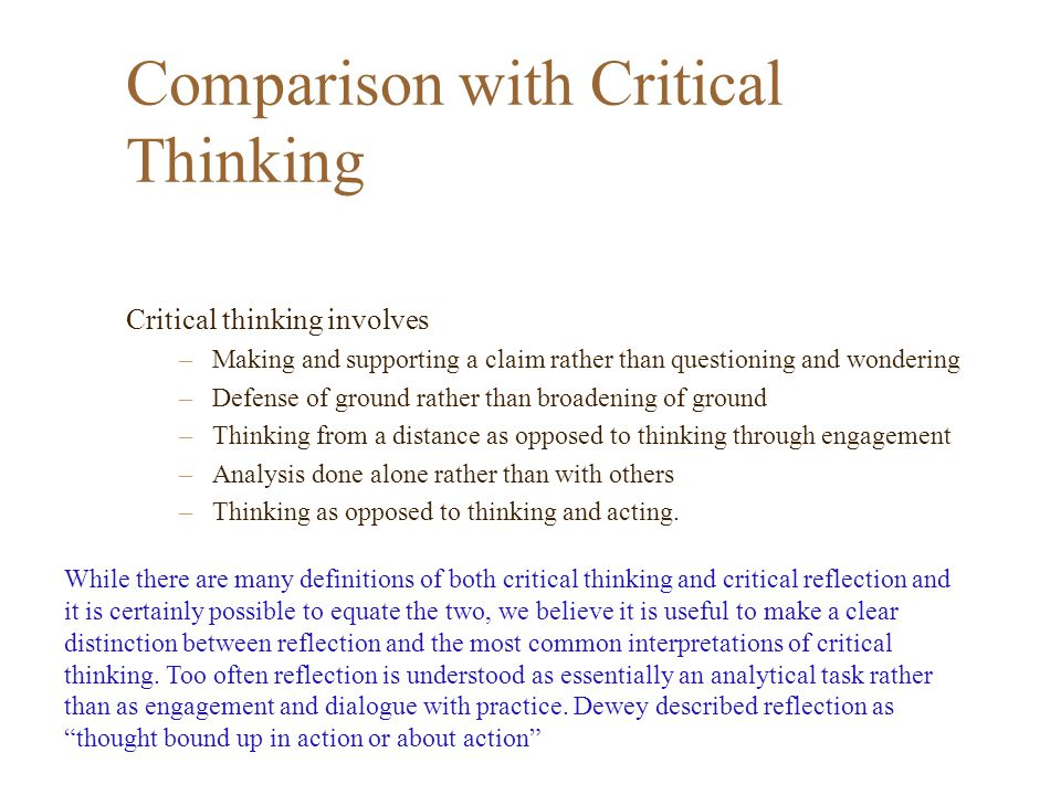 what is meant by critical thinking