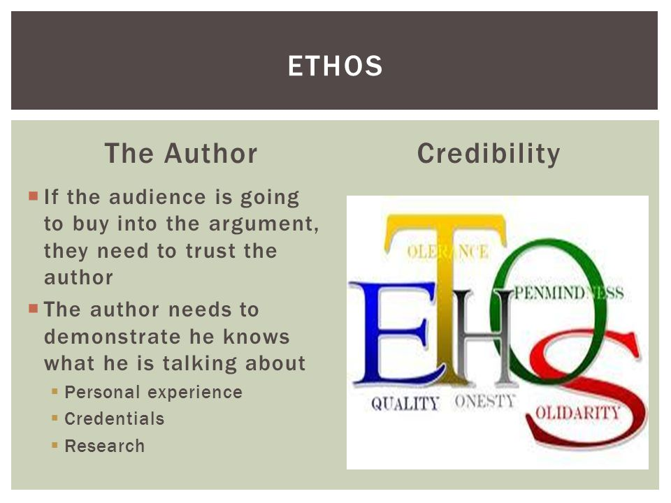 Ethos The Author Credibility