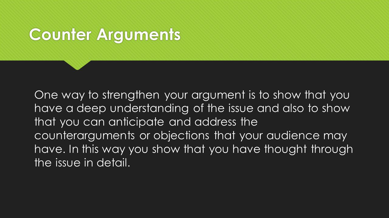 preparing your argument Prior to your argument, prepare a brief opening in which you introduce yourself, who you represent, the relief you are requesting, and a roadmap of where you would like to take the.
