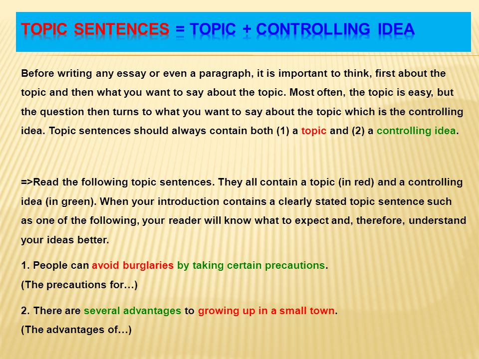 topic sentences and supporting details part ppt video online 3 topic sentences