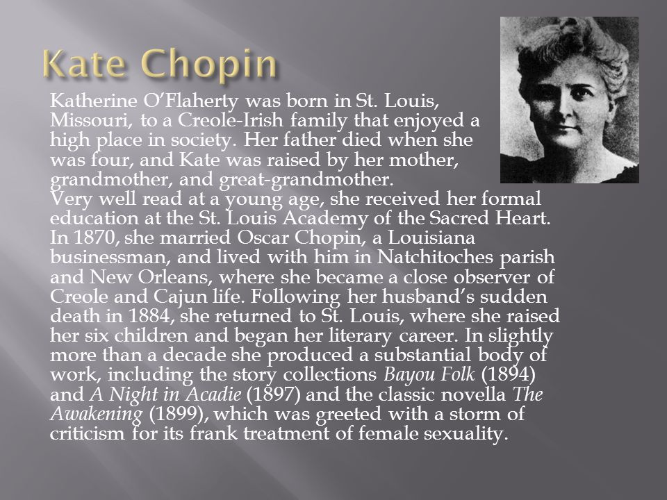 An analysis of the creole society in the awakening by kate chopin