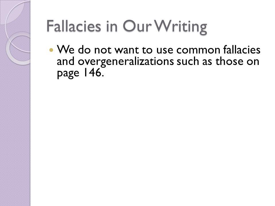 avoid fallacies essay