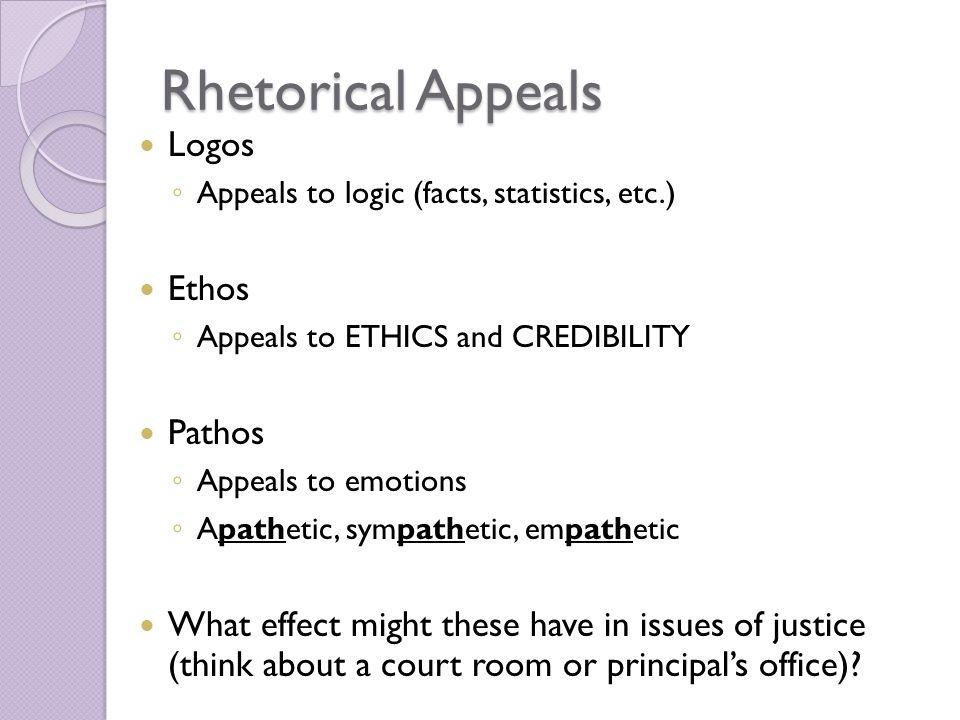 ethos pathos logos rhetorical essay Essay on ethos, pathos, logos kings letter to birmingham 796 words | 4 pages more about pathos, logos and ethos in aristotle´s rhetorical triangle essay.