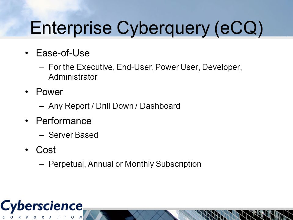 Enterprise Cyberquery (eCQ) Infor LN / Baan - ppt video online ...