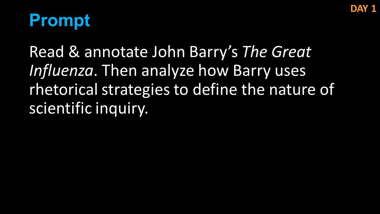 rhetoric analysis of the great influenza John m barry the great influenza - meyerandrenecom.