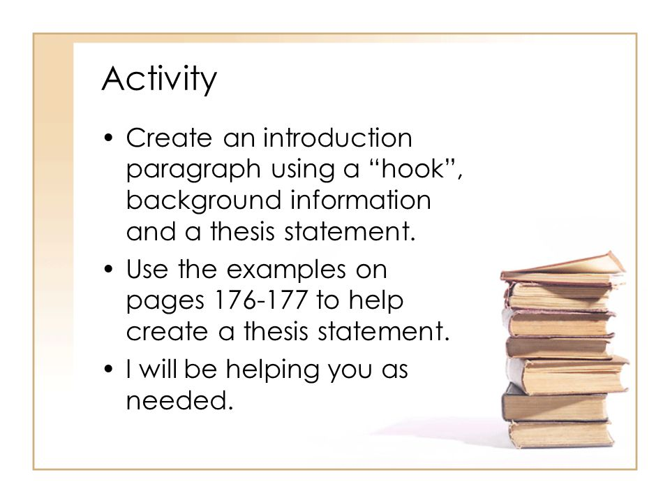 creating a thesis statement activity Find creating a thesis statement lesson plans and teaching resources quickly find that inspire student learning.
