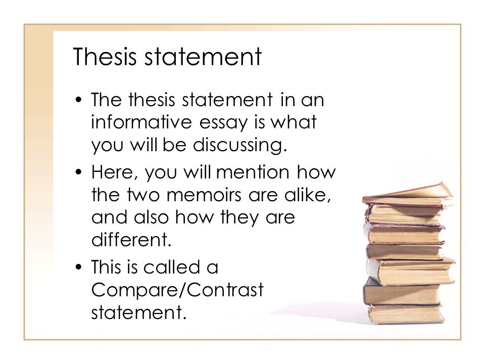 Thesis statement for an informative essay sample