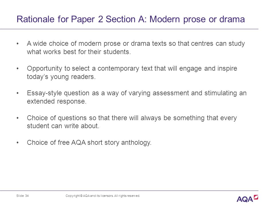 how to write a rationale for drama
