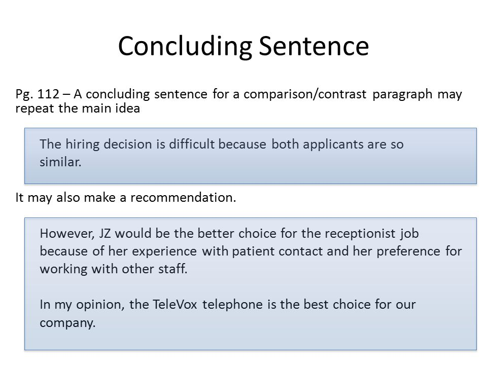 make good concluding sentence essay