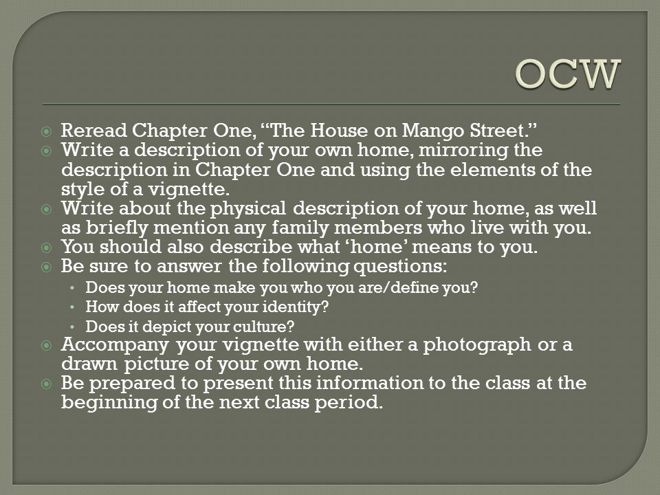 'The House On Mango Street' by Sandra Cisneros Essay Sample