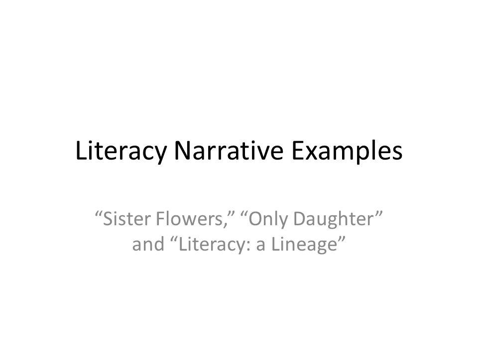 literacy narrative examples - Literacy Narrative Essay Example
