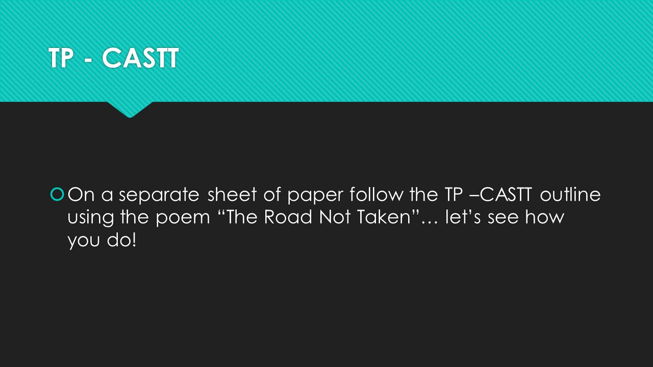 analytical essay on the road not taken The road not taken by robert frost is a poem as stated in its title is about the road not taken, not per say about the one less traveled there are four stressed syllables per line, varying on an iambic tetrameter base.