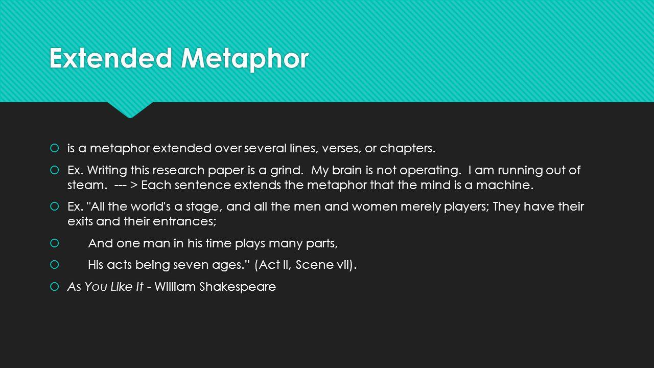 metaphor essay man