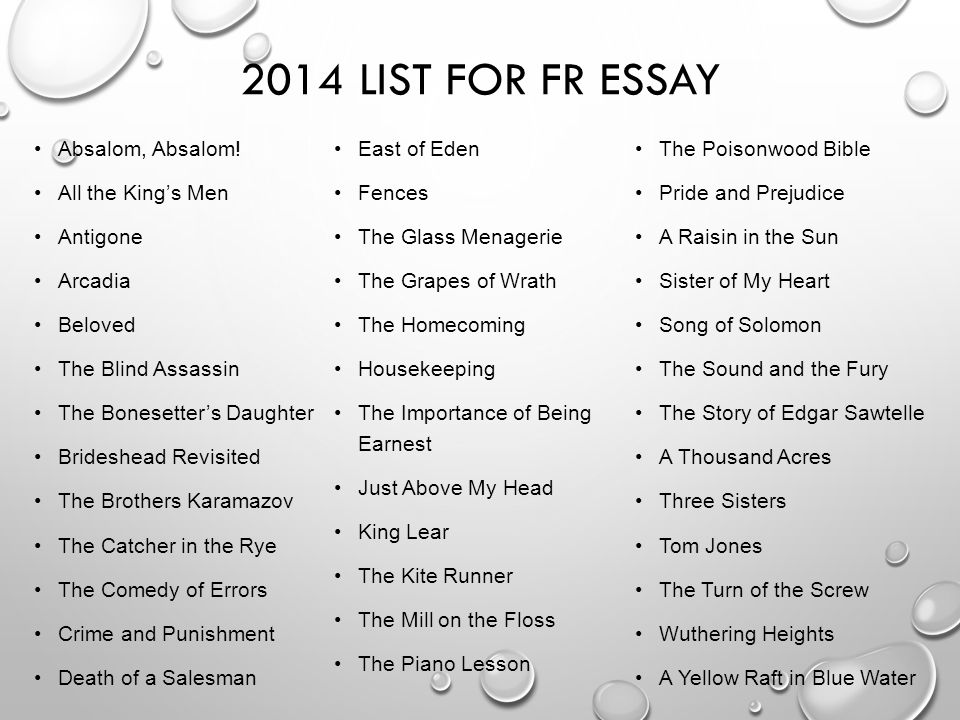 ap literature exam the nature of the beast ppt video online  2014 list for fr essay absalom absalom east of eden