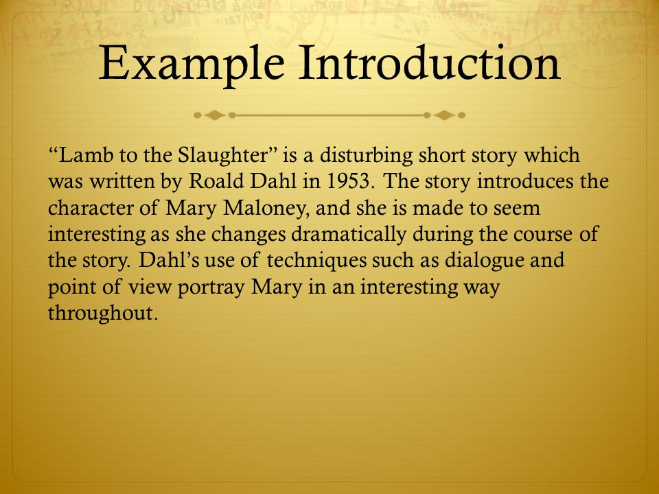how to write an introduction for a short story essay