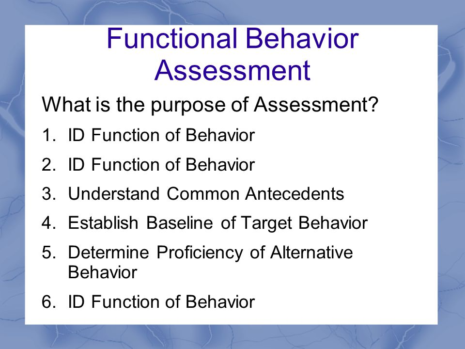 Functional Behavior Assessment In School Settings  Ppt Download