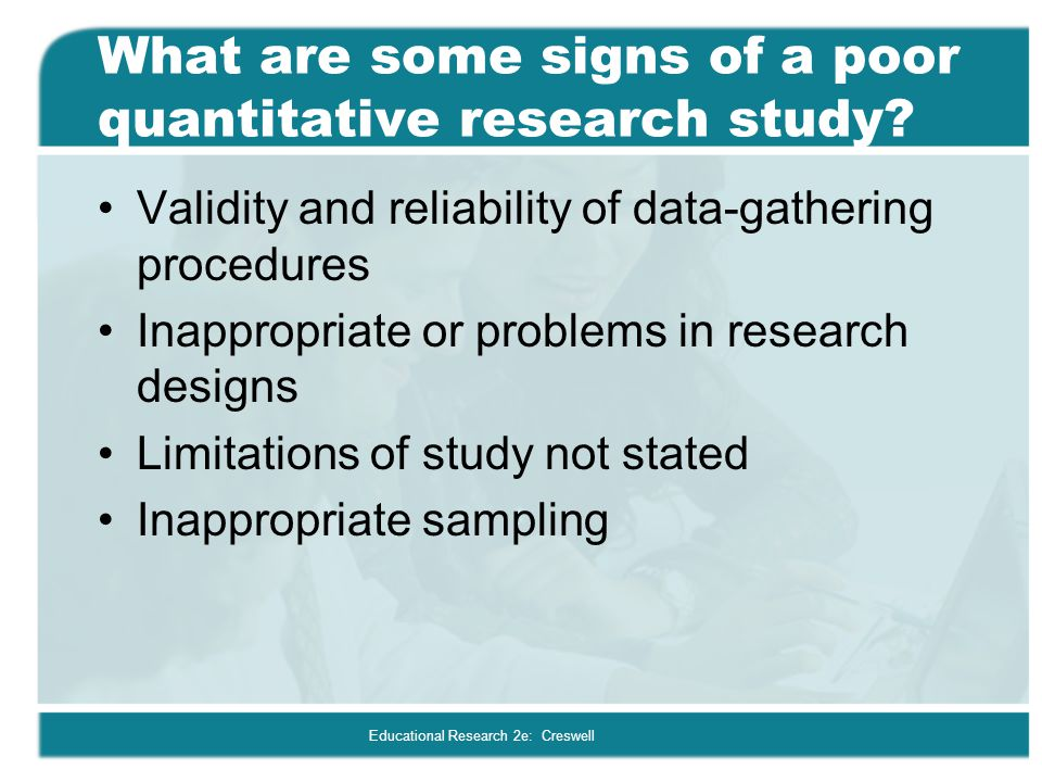 What are some signs of a poor quantitative research study