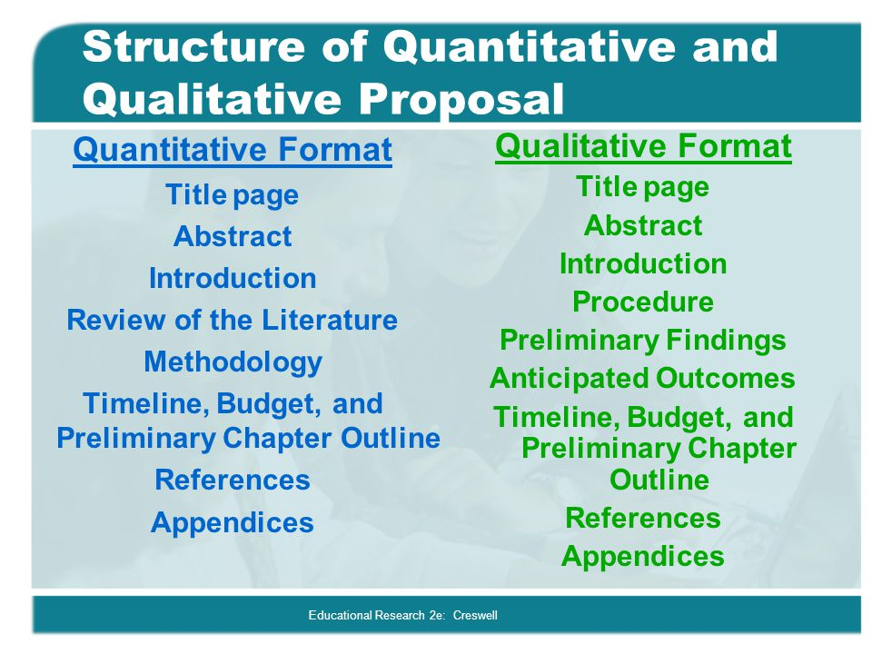 Structure of Quantitative and Qualitative Proposal