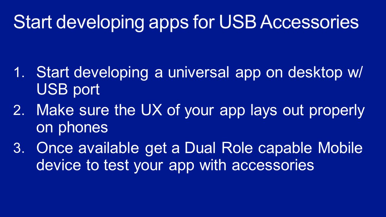 Building apps for USB Accessories