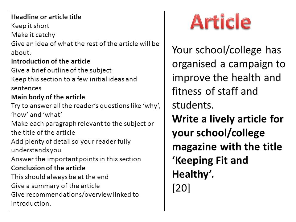 how to write an article title in a paragraph