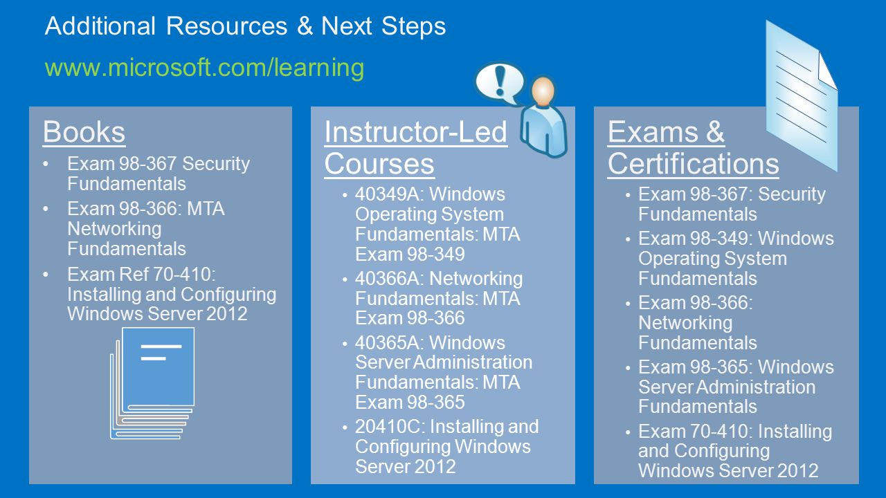 Microsoft technology associate ppt video online download 19 additional resources xflitez Images