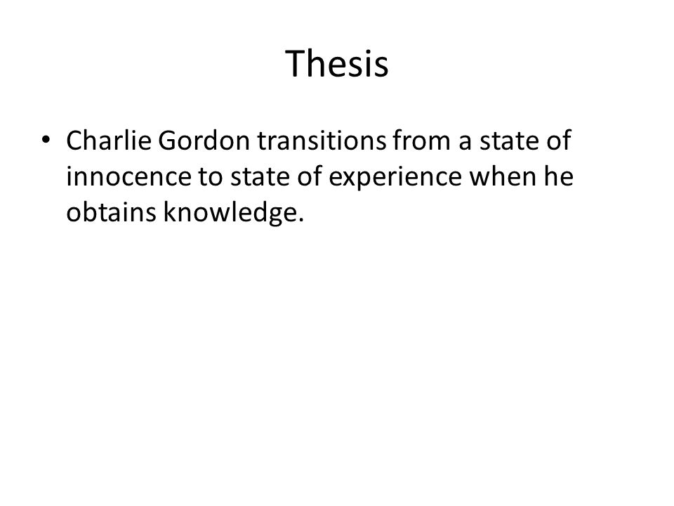 charlie gordon essay example Essays offers essay examples to help students with their essay writing flowers for algernon: metaphor analysis, free short story synopsis: charlie gordon.