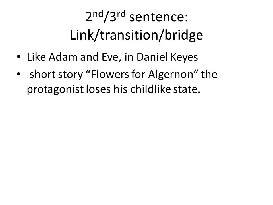thesis for flowers for algernon Alienation by definition is the state or experience of being isolated from a group  usually when the word alienation is brought up, people immediately think.