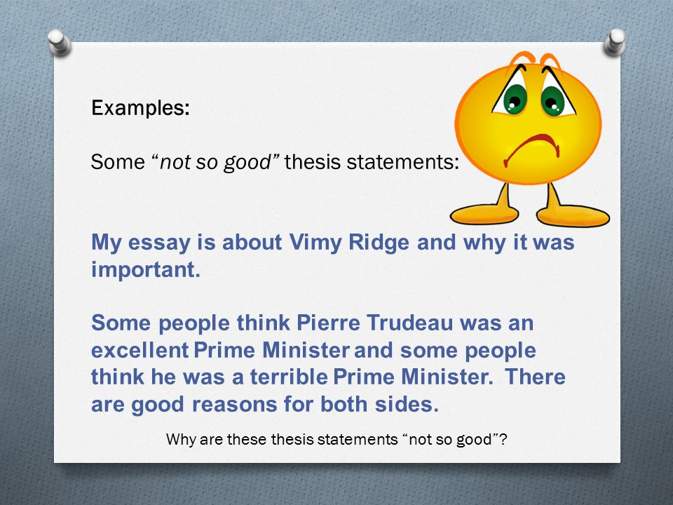 a thesis statement is not Thesis exercises what a thesis is not not a title a title can often give the reader some notion of what the thesis is not a thesis thesis statement.