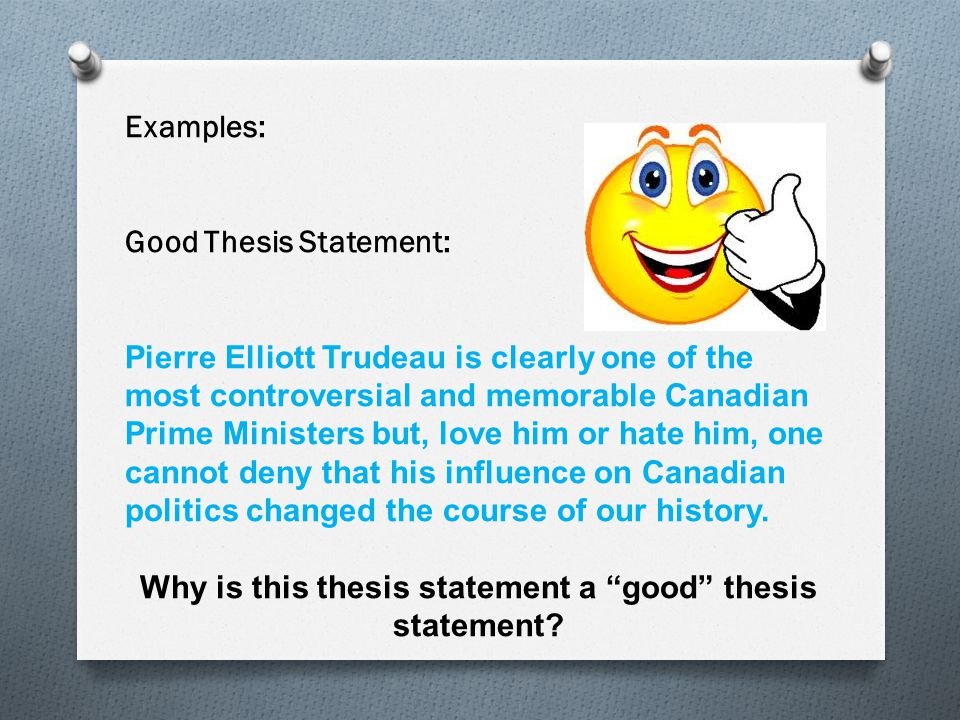 writing a good thesis statement powerpoint Do i need to write a thesis statement students should always write thesis statements in their essays most instructors, whether or not thesis statement basics.