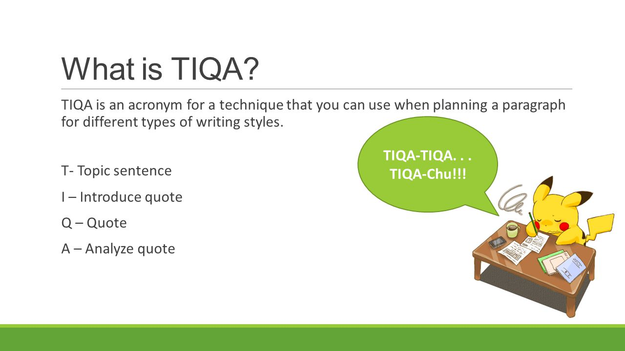 How to use tiqua how to use tiqa in essays
