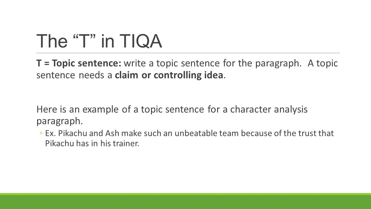 how to write a topic sentence for a story