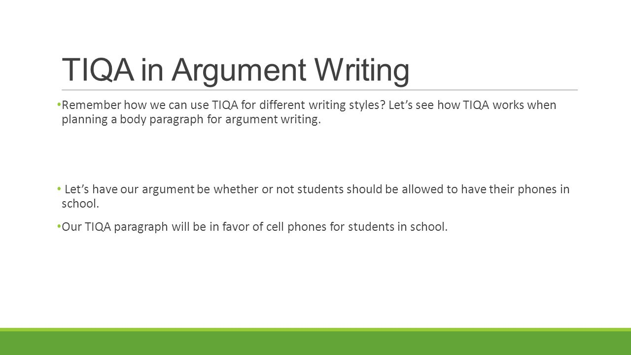 How To Write An Essay Using The Tiqa Method