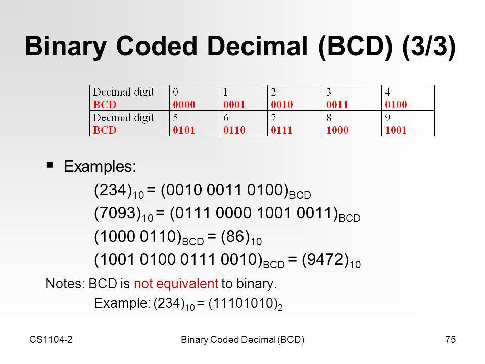 how to add binary coded decimal