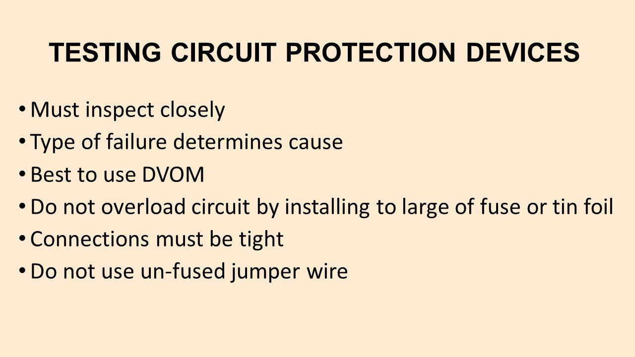 protection devices in electrical circuits pdf