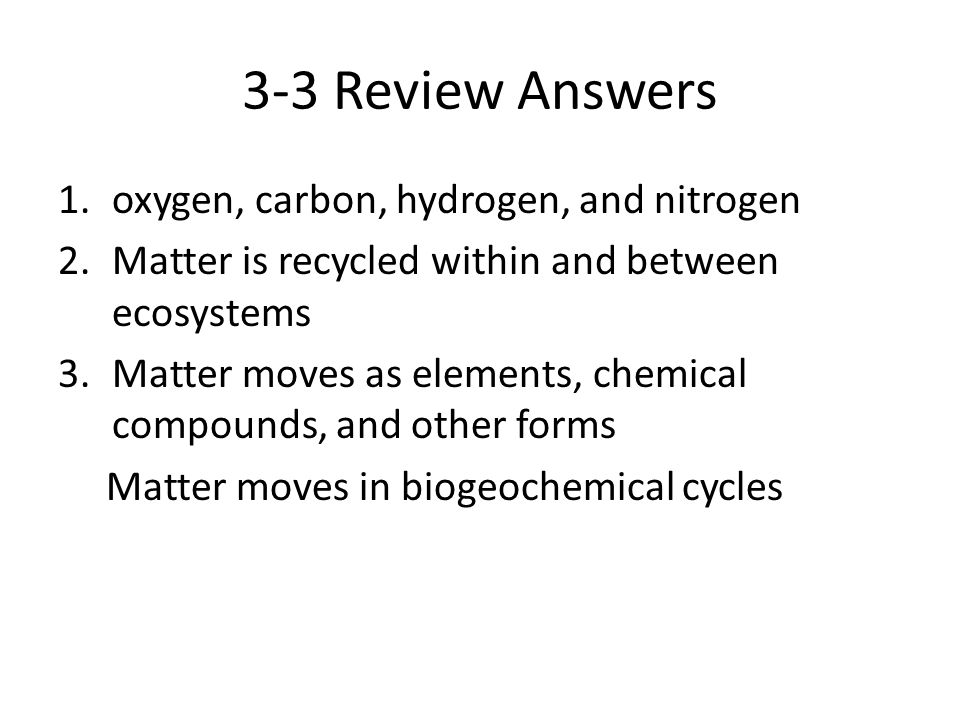 Chapter 3 Review ppt video online download – Water Carbon and Nitrogen Cycle Worksheet Answers