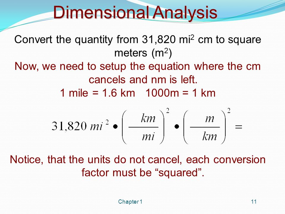 Dimensional Analysis In Dimensional Analysis Always Ask