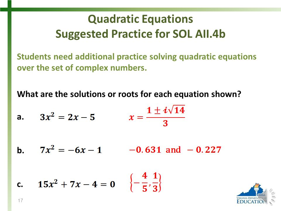 quadratic formula questions and answers pdf