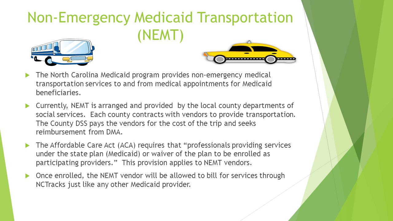 Medicaid Planning How To Apply Nonemergency Medicaid Transportation (nemt)