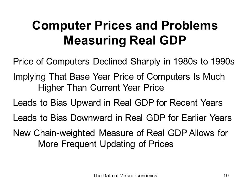 Computer Prices and Problems Measuring Real GDP