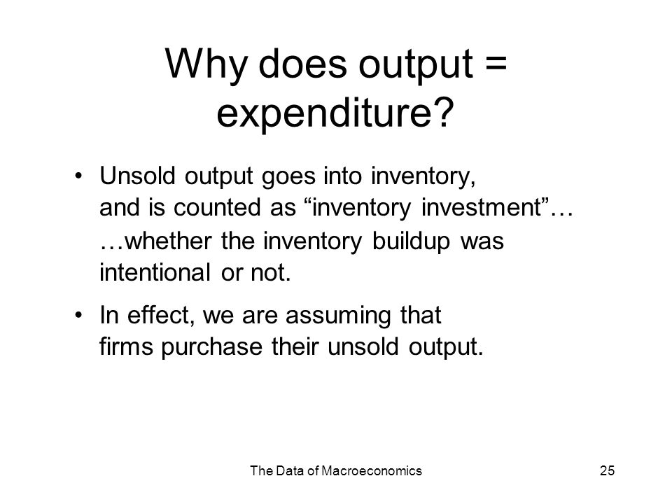 Why does output = expenditure
