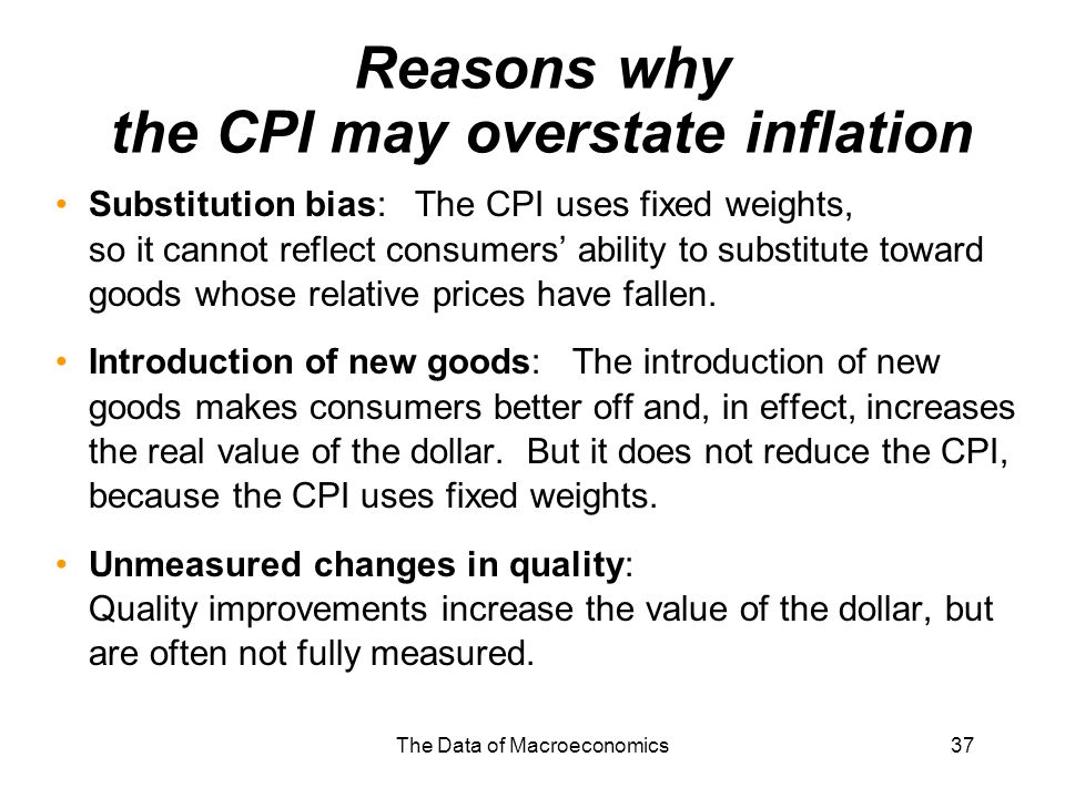 Reasons why the CPI may overstate inflation