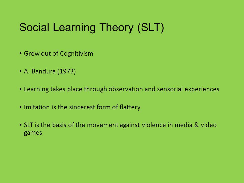 social learning theory and media violence pdf